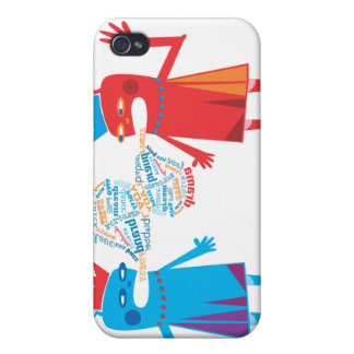 Funny Blabber Cartoon Characters  iPhone 4 Case