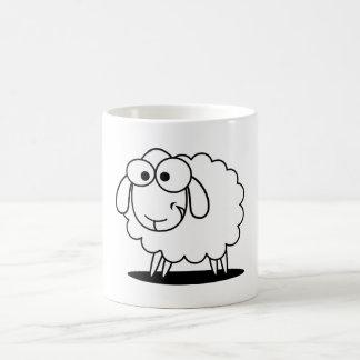 """Funny """"black an white lamb"""" coffee mug"""