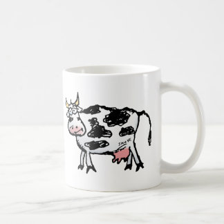 Funny Black and White Cow Cartoon Coffee Mug