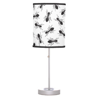 Funny Black Ants Pattern Table Lamp