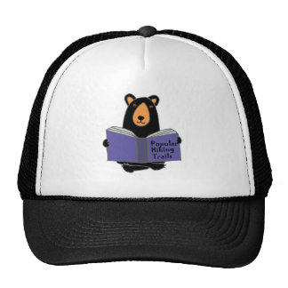 Funny Black Bear Reading about Hiking Trails Trucker Hat