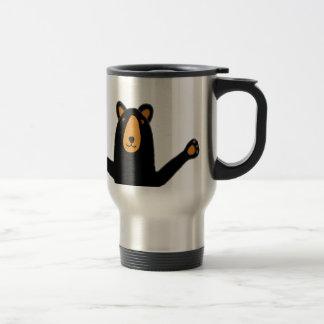 Funny Black Bear Ready to Hug Travel Mug