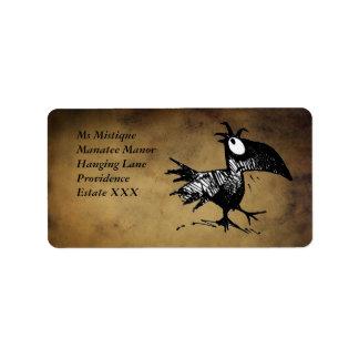 Funny Black Cartoon Crow