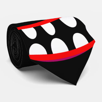 funny black cartoon monster happy smile face tie