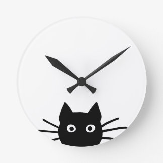 Funny Black Cat Clocks