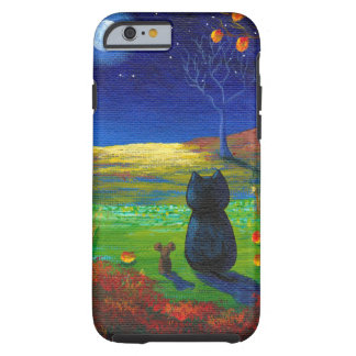Funny Black Cat Moon Mouse Fall Creationarts Tough iPhone 6 Case