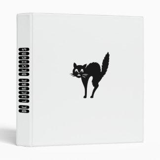 Funny Black Cat,White Binder