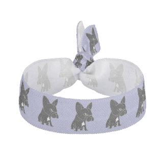 Funny Black French Bulldog Puppy Dog Hair Tie