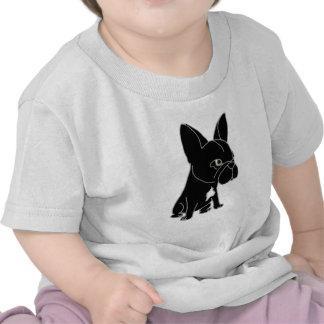 Funny Black French Bulldog Puppy Dog Tshirts