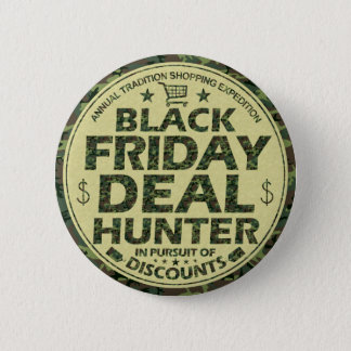 Funny Black Friday Deal Hunter Discount Shoppers 2 Inch Round Button