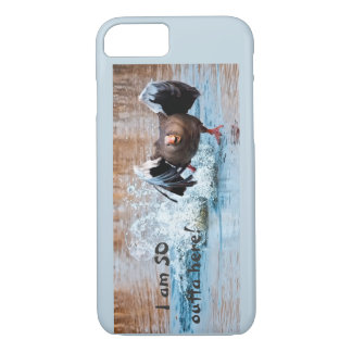 Funny Black Goose Photo Running Away on Water Case-Mate iPhone Case