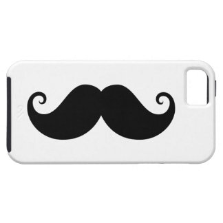 Funny black handlebar mustache trendy hipster iPhone 5 cover