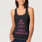 Funny black keep calm bachelorette party tank tops