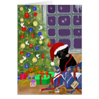 Funny, Black Labrador Christmas Card