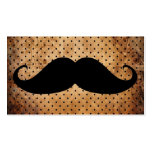 Funny Black Moustache Business Card