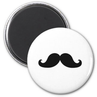 Funny Black Mustache Humor 2 Inch Round Magnet