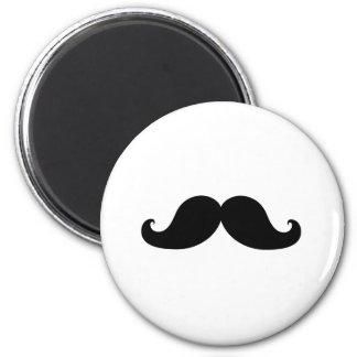 Funny Black Mustache Humor 2 Inch Round Magnet