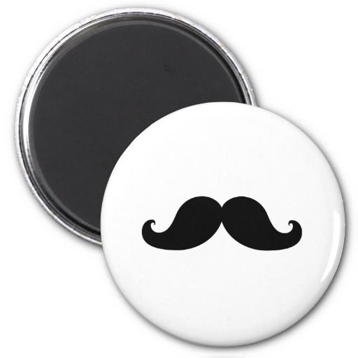 Funny Black Mustache Humor Magnets