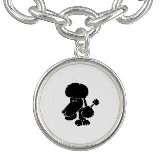 Funny Black Poodle Puppy Dog Bracelets