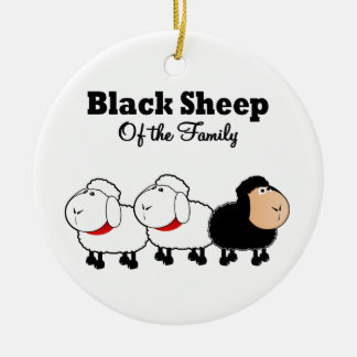 Funny Black Sheep of the Family Ceramic Ornament
