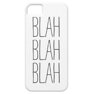 Funny blah blah blah modern trendy hipster humor iPhone 5 case