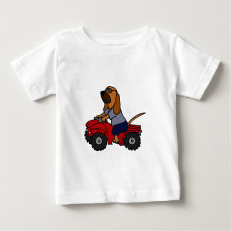 Funny Bloodhound Driving Red ATV Baby T-Shirt