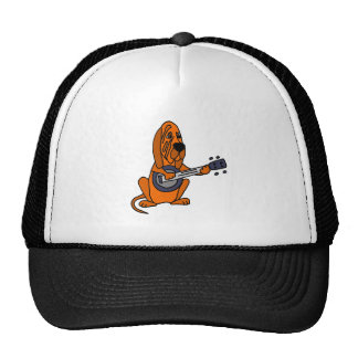 Funny Bloodhound Playing Banjo Trucker Hat