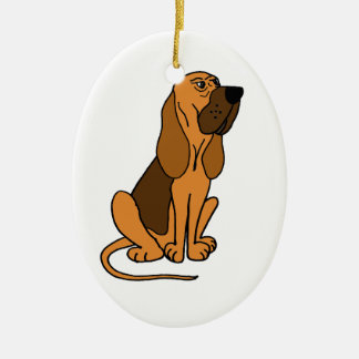 Funny Bloodhound Puppy Dog Christmas Tree Ornaments