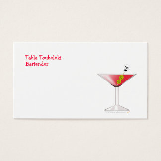 Funny Bloody Martini with Skull Halloween Business Card