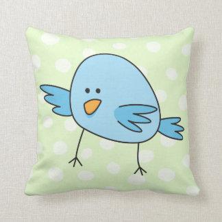 Funny blue bird kids animal cartoon pillows