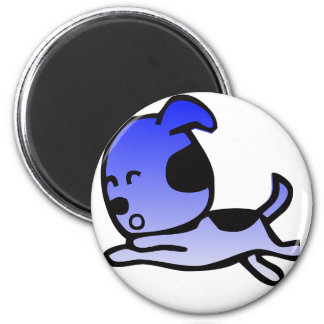 Funny Blue Dog Apparel and More 2 Inch Round Magnet