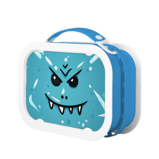 Funny Blue Face with Sneaky Smile Lunch Box