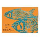 Funny Blue Fish Thank You Cards / Notecards