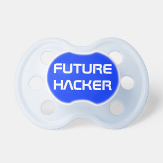Funny Blue Future Computer Hacker Nerdy Dad Pacifier