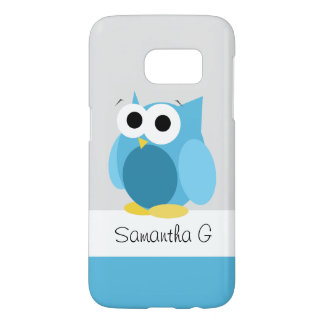 Funny Blue Owl - Personalized Samsung Galaxy S7 Samsung Galaxy S7 Case