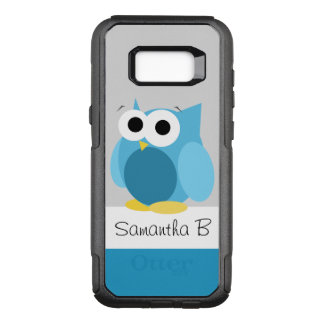 Funny Blue Owl Personalized Samsung Galaxy S8 OtterBox Commuter Samsung Galaxy S8+ Case