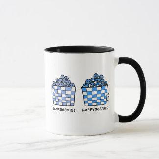 Funny Blueberries Happyberries Happy Blues Cartoon Mug