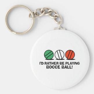 Funny Bocce Ball Basic Round Button Keychain