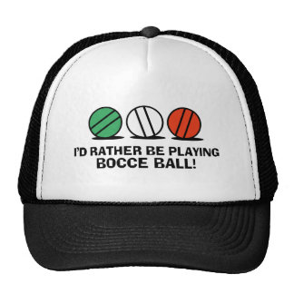 Funny Bocce Ball Mesh Hats