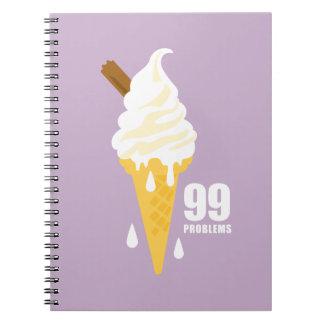 Funny bold summer ice cream graphic illustration notebooks