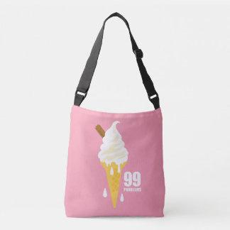 Funny bold summer icecream graphic illustration crossbody bag
