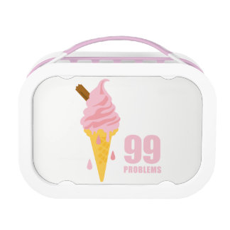 Funny bold summer icecream graphic illustration lunch box