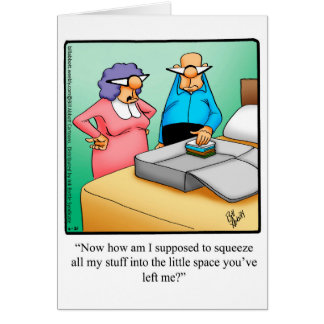 Funny Bon Voyage Humor Greeting Card