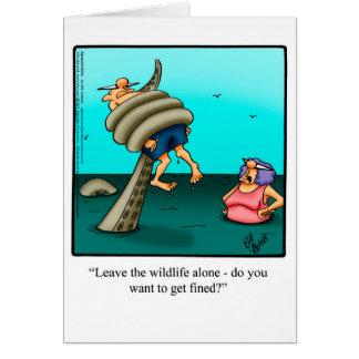 Funny Bon Voyage/ Vacation Humor Greeting Card