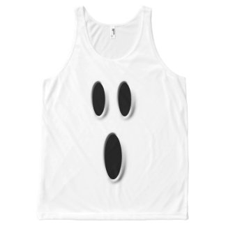 Funny Boo Ghost Face Halloween Costume All-Over-Print Tank Top