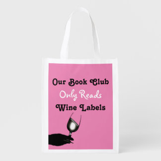 Funny book club humor | Personalized Reusable Grocery Bags