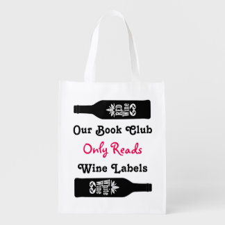 Funny book club wine sayings   Personalized Market Totes