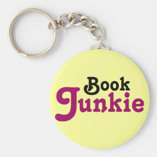 Funny Book Junkie Reading Gift Keychain