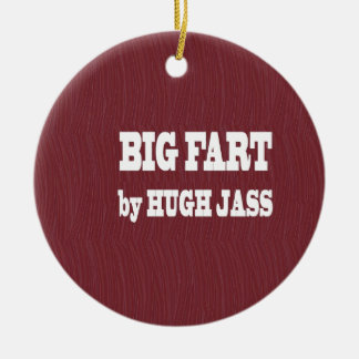 FUNNY BOOK NAMES : Pronounce Loud  LOWPRICE GIFTS Round Ceramic Ornament