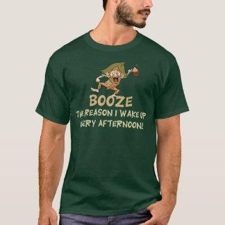 Funny Booze The Reason I Wake Up T-Shirt